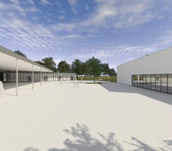 Ecole primaire et salle de sport