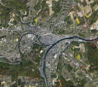 Parcs-relais autour de Namur